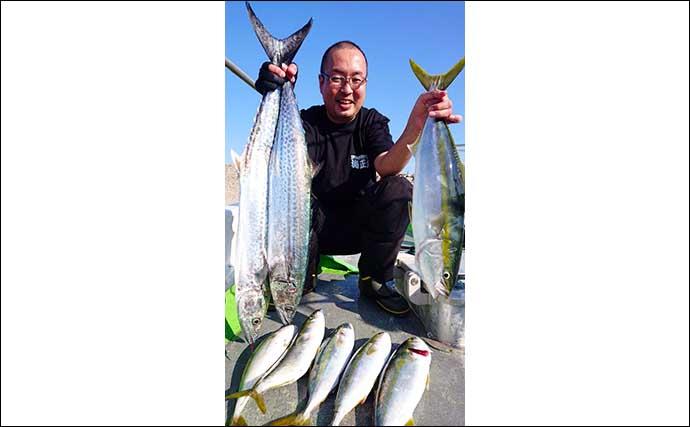 【愛知・三重】沖のルアー最新釣果 ジギングで90cm超メタボ『ブリ』