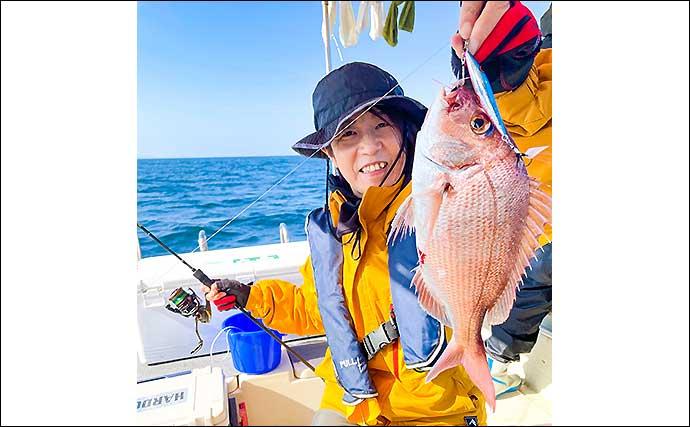 ボートジギングで高級魚「アラ」登場 SLJではマダイもゲット【福岡】