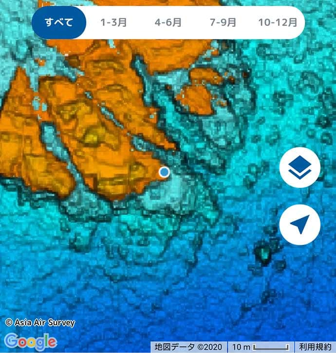 磯エギングで900g頭に全員安打 決め手は海底地形図『釣りドコ』活用?