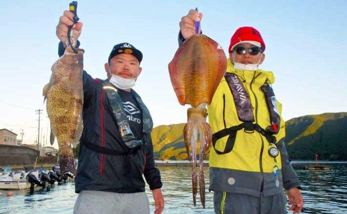 【愛知・三重】沖釣り最新釣果 『キロ超』含みアオリイカ浮上相次ぐ
