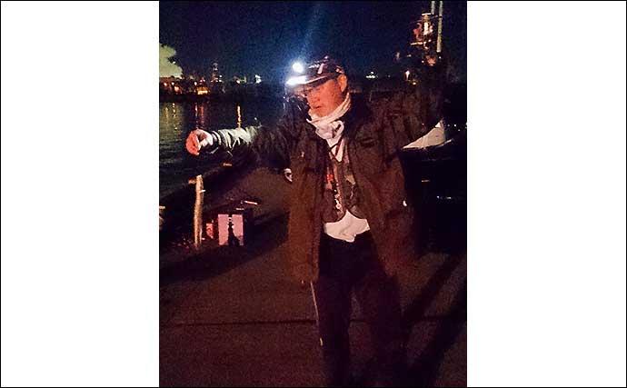 夜のぶっこみ『アナゴ』釣り 近距離戦で6匹手中【三重・霞ヶ浦ふ頭】