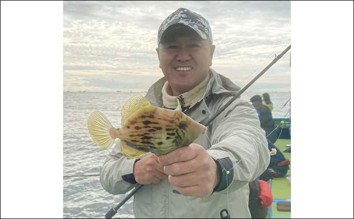 東京湾『カワハギ』釣りで12尾御用 ハリス長さ調整が奏功【一之瀬丸】