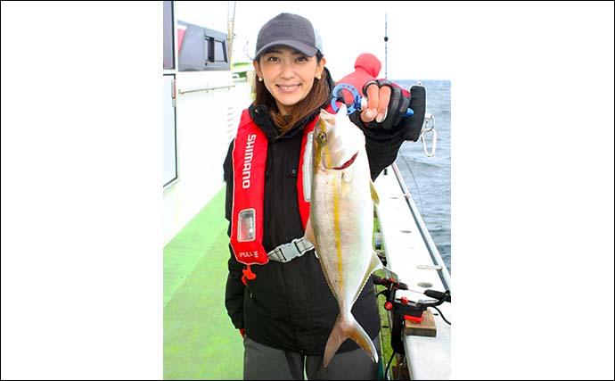 コマセマダイ釣りで本命手中 イナダ&カンパチも登場【千葉・庄幸丸】