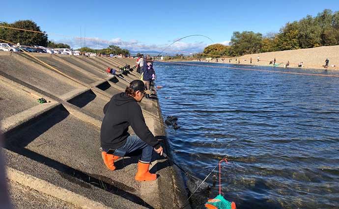 エリアトラウトに初挑戦 レンジ調整でニジマス連発【北方川釣り体験場】