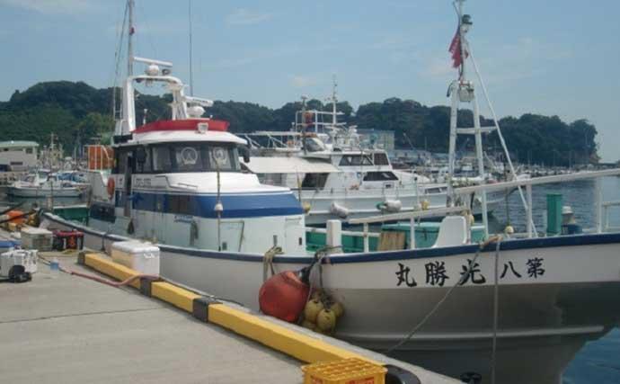 小名浜沖で良型アカムツ4匹 ゲストは40cm大アジ【福島・第八光勝丸】