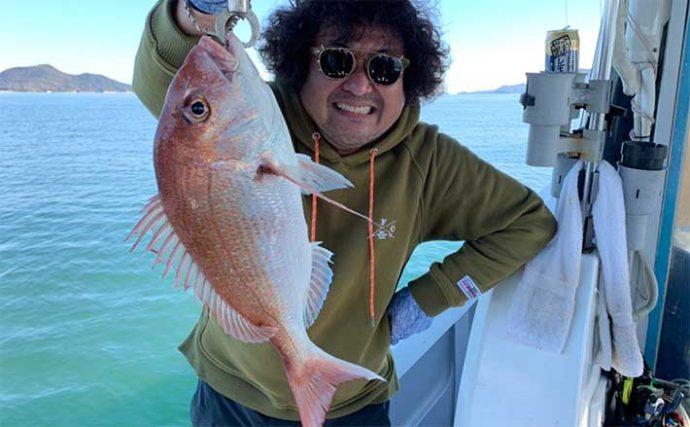 葉加瀬太郎がツアー中にマダイ釣り 釣果は「鯛めしおにぎり」で差し入れに