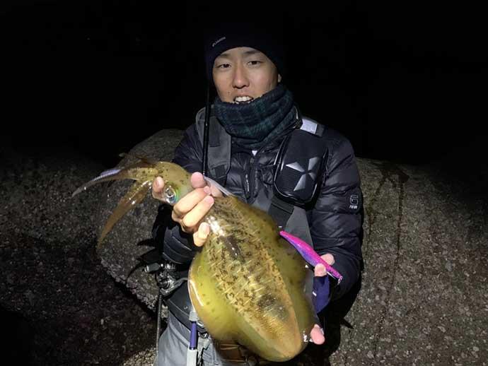 『ナイトエギング』釣果アップ術5選 冬の夜は良型アオリイカが狙い目