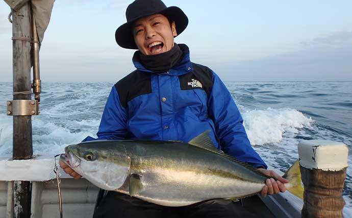 鳴門沖ジギングで「ブリ族」が入れ食い 好ゲストにサワラも【海幸丸】