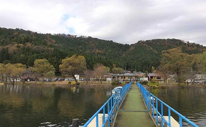 プレオープンの余呉湖でワカサギ釣り 常連の近くなら好釣果?【滋賀】