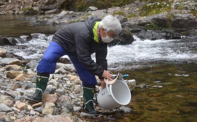 解禁日の河川でマス釣り満喫 魚種の釣り分け方とは?【一庫大路次川】