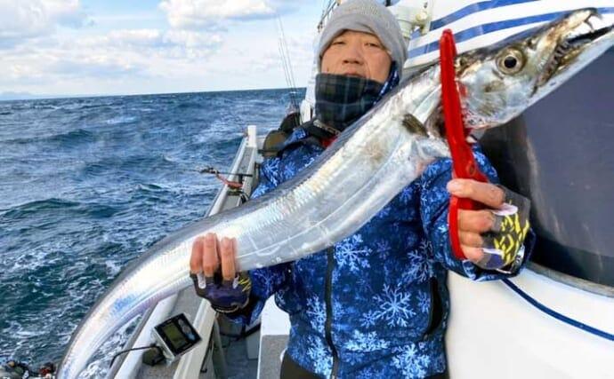 【大分・熊本】沖釣り最新釣果 良型タチウオにカワハギ&マダイ数釣りも