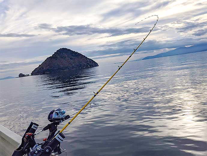 レイクトローリングで53cm頭ビワマス7匹 握り寿司は大好評【琵琶湖】
