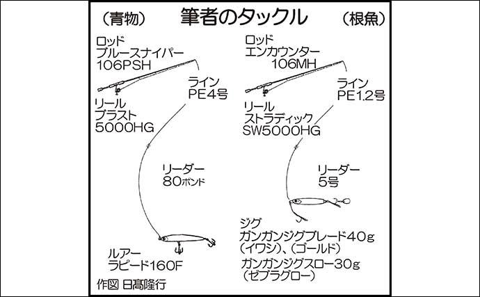 沖磯ルアーゲームで50cm級マダイ&キジハタ連打【福岡・烏帽子島】