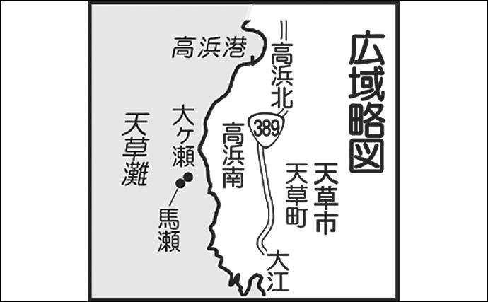 沖磯キャスティングゲームで1.8kgハガツオ&アカハタ登場【熊本】