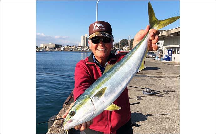 陸っぱり泳がせ釣りで63cmワラサ サビキではアジ好調【千葉・乙浜港】