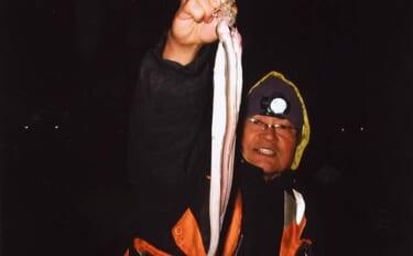 夜の陸っぱりアナゴ釣りで好釣果 足元狙って12匹【三重・霞ケ浦ふ頭】