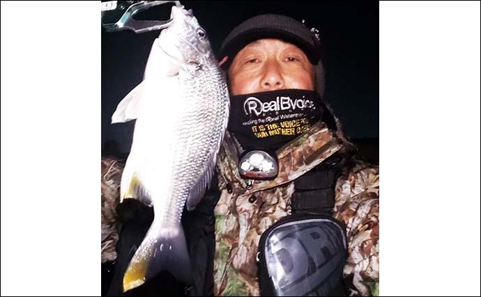 名古屋港『チニング』活気充満 新年初キビレ&キジハタも【潮見橋周辺】