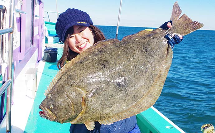 イワシ泳がせ釣りで5kg超え『大判ヒラメ』浮上 孫バリが決め手に?