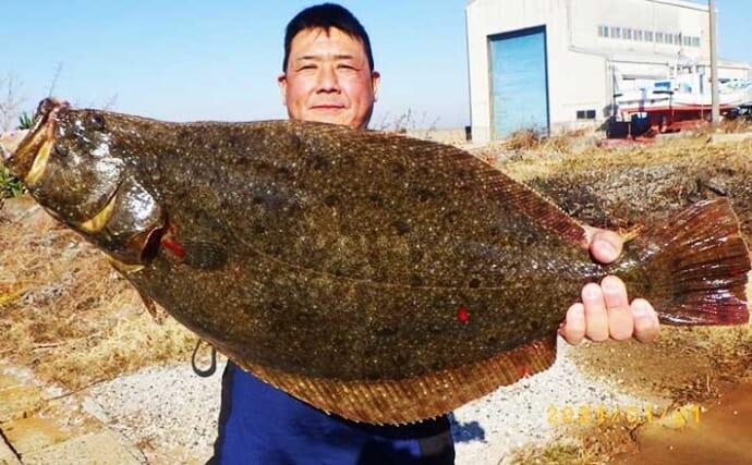 【愛知】沖のエサ釣り最新釣果 イワシ泳がせでヒラメが型&数ともに好調