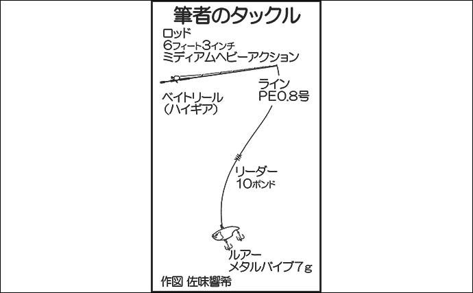 「メタルバイブ」で冬バスを攻略 ディープ狙い撃ち良型手中【福岡】