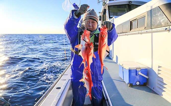 【相模湾2021】キンメダイ釣り初心者入門 今期は釣果安定傾向か