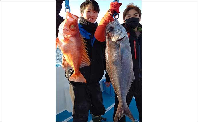 【玄界灘】落とし込み最新釣果 「電動サンマ手繰り」釣りで寒ブリ120尾