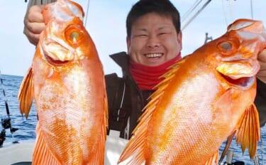 【響灘】沖釣り最新釣果 泳がせ釣りで良型チカメキントキが好調