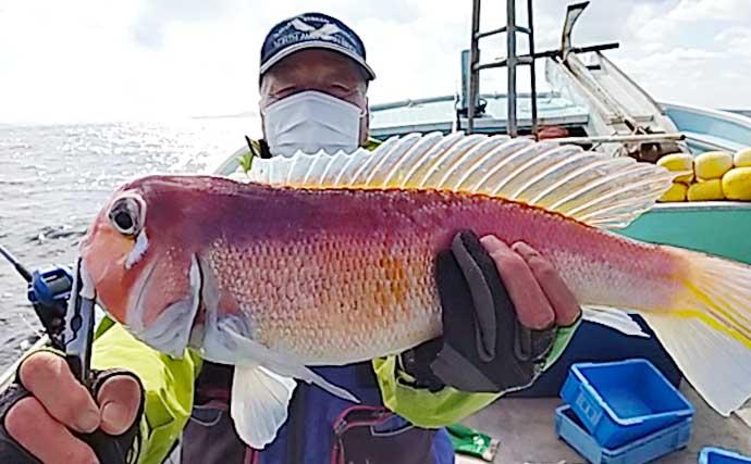 【玄界灘】沖のエサ釣り最新釣果 「五目釣り」で良型アマダイ続々顔出し