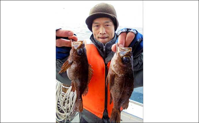 【福岡】沖のエサ釣り最新釣果 アジ泳がせで良型チカメキントキ浮上