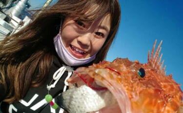 オニカサゴ釣りで40cm級頭に本命顔出し 美味な釣果料理堪能【有希丸】