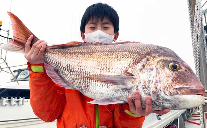 【玄界灘】沖のルアー最新釣果 タイラバで良型乗っ込みマダイに期待