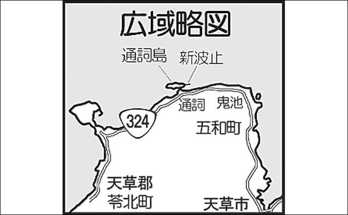 真冬のシーバスゲームで60cm級『アフター』をキャッチ【熊本・通詞島】