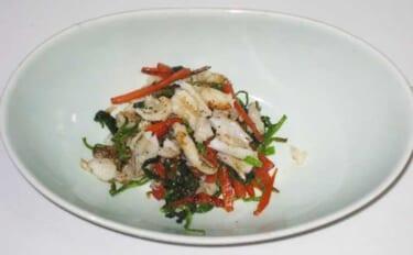 【釣果レシピ】キスと季節の野菜の炒め物 旬の野菜使って季節感アップ