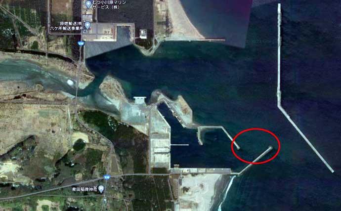 青森県陸っぱり好釣り場:むつ小川原港 県内屈指の一級ポイント