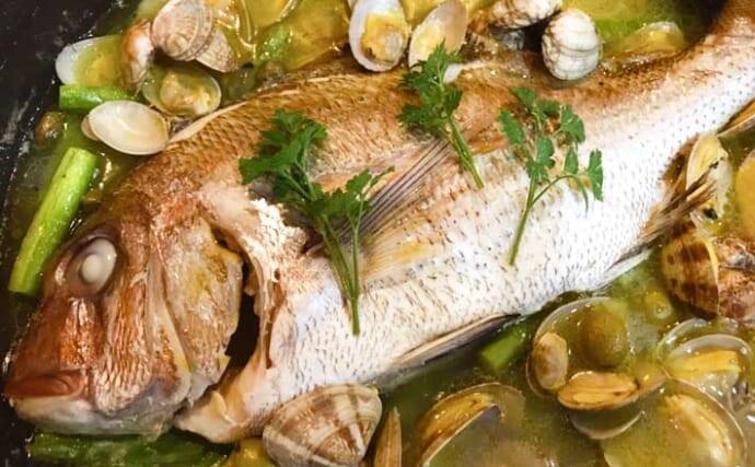 釣り人的「低糖質」レシピ:アクアパッツァ 〆パスタはダイエットの敵?