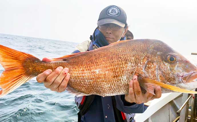 【玄界灘】沖のエサ釣り最新釣果 『10kgオーバー』超大型マダイ登場