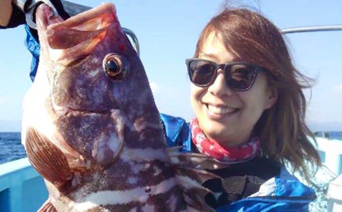 【愛知・三重】沖のエサ釣り最新釣果 イワシ泳がせで良型マハタ顔出し