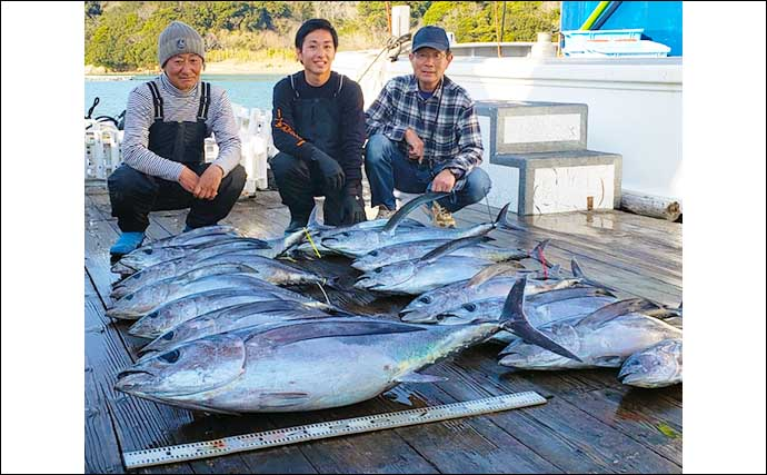 【三重・愛知】沖のルアー最新釣果 トンボジギングでマグロ船中40匹