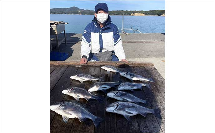 【三重】カカリ釣り最新釣果 腹パン「クロダイ」浮上で乗っ込み気配