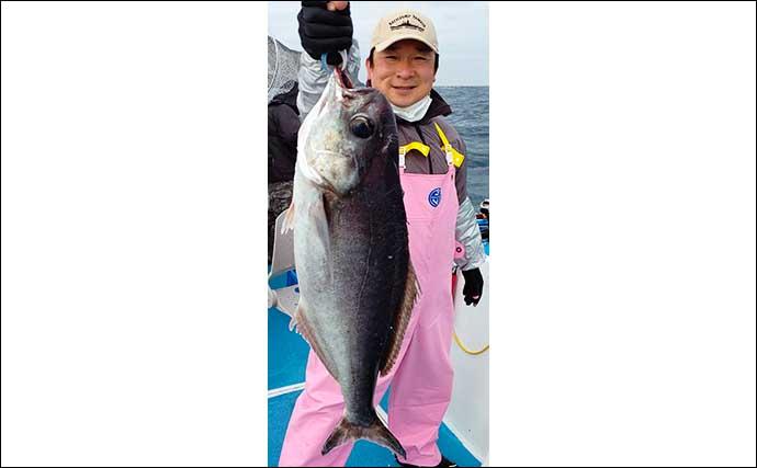 【福岡】沖のエサ釣り最新釣果 『エビラバ』で大型マダイお目見え