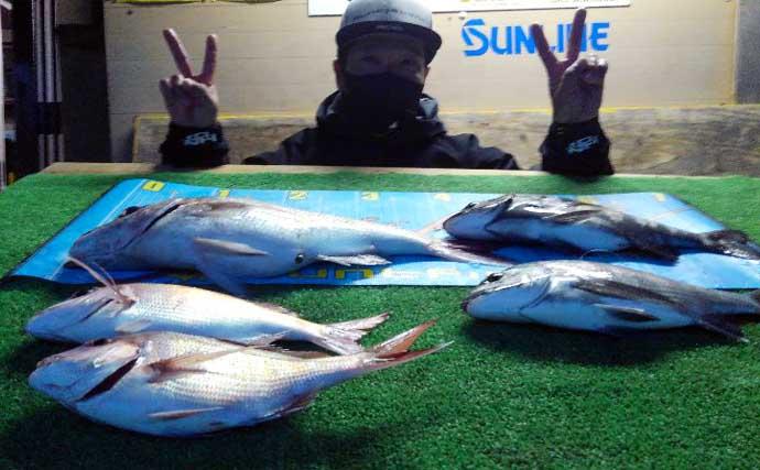 【三重】イカダ&カセ釣り最新釣果 エギングで『春アオリイカ』好調