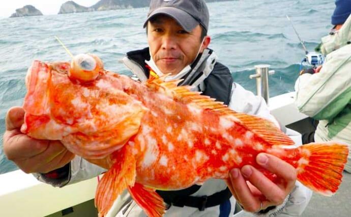 【大分・熊本】沖釣り最新釣果 大五郎アラカブにシロアマダイほか好況