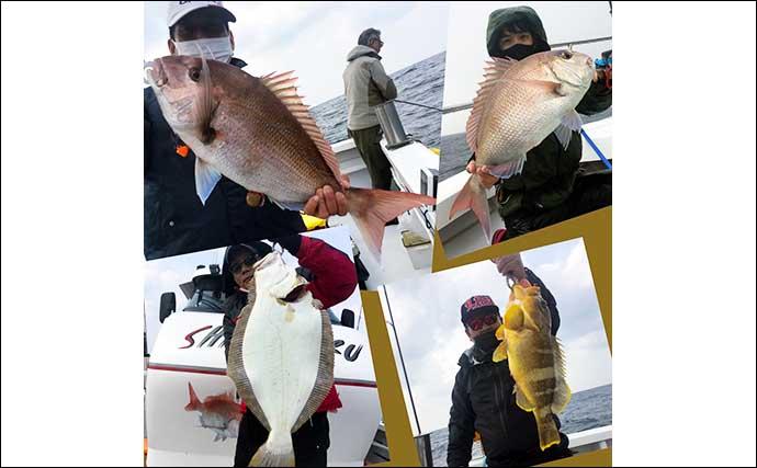 【響灘】沖釣り最新釣果 タイジグ&タイラバ&テンヤで良型マダイ有望