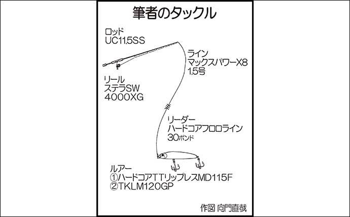 磯ヒラスズキゲームで78cm頭6尾 サラシ&ベイト好条件をモノにする