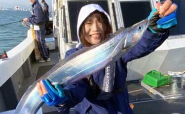 【福岡】沖のエサ釣り最新釣果 指9本サイズ筆頭に大型中心タチウオ好調