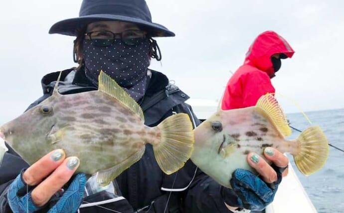 【大分・熊本】沖釣り最新釣果 カワハギ好調で来シーズンにも期待