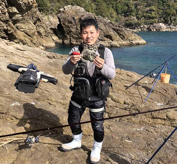 冬の『投げカワハギ釣り』が面白い 磯周りで30cm超登場【串本大島】