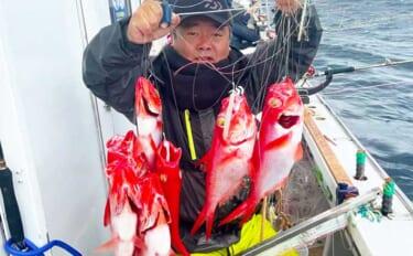 深場釣りで良型『ブランドキンメ』6点掛け 「超激臭エサ」がアタリ?