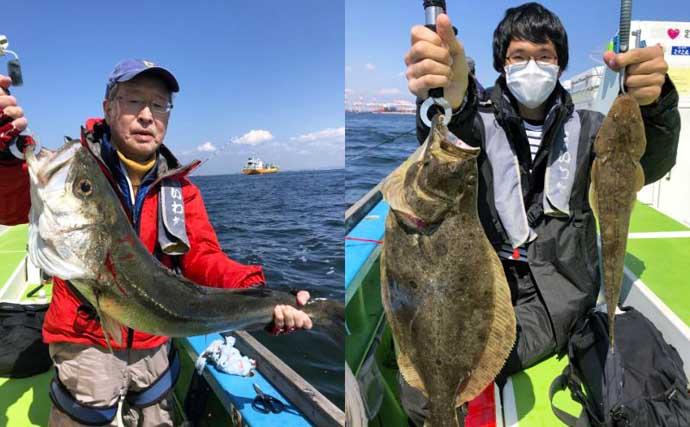シーズン開幕直後の『エビマゴチ釣り』堪能 好ゲストにスズキにヒラメ