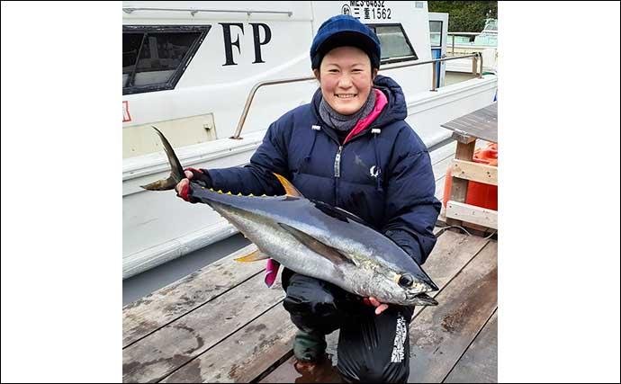 志摩沖トンボジギングで27kg『タネトン』 船中キハダも浮上【三重】